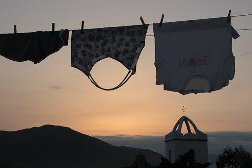 Kleidung, Sommer, Sonnenuntergang