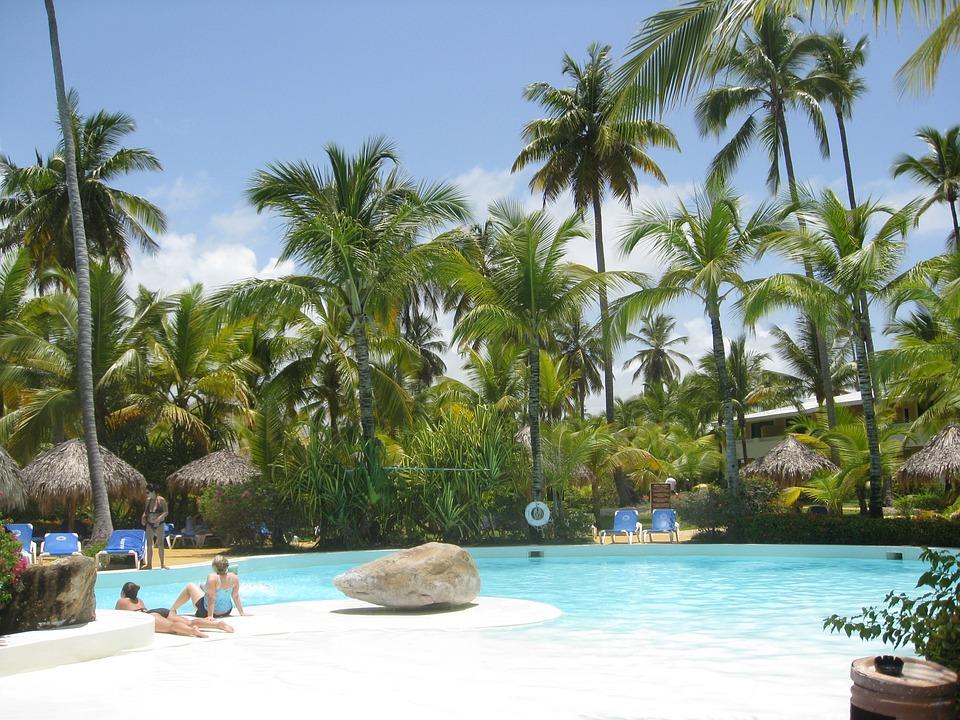 Punta Cana, Dominikana, Podróży, Lato, Tropikalny