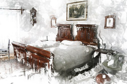 Antique, Old, Room, Furniture, Mood