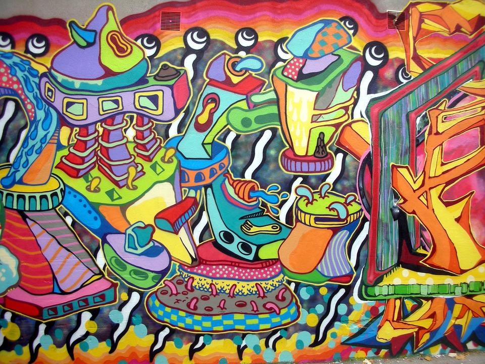 Photo gratuite tag art de rue peinture murale image for Types de peintures murales