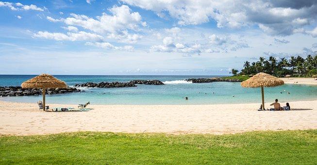 ハワイ, ビーチ, コオリナ リゾートを島します。, マリオット