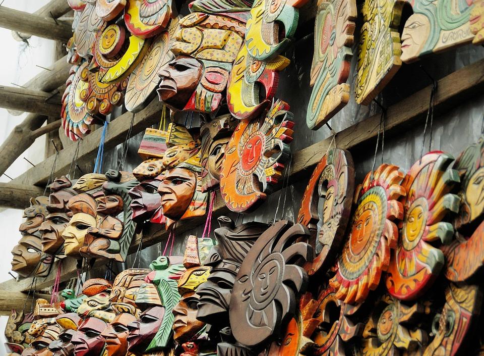 Gwatemala, Chichicastenango, Rynku, Wyświetlacz, Maski