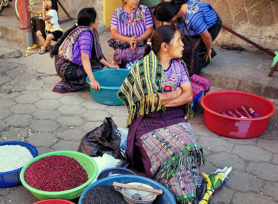 Gwatemala, Chichicastenango, Rynku, Chłop, Ekspedientka