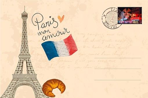Kartu Pos, Paris, Menara Eiffel