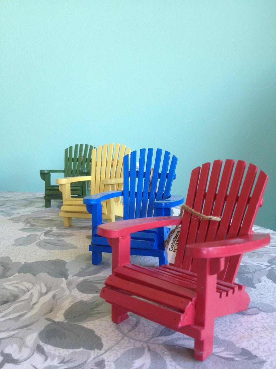 Picture of: Adirondack Chairs Red Chair Blue Free Photo On Pixabay