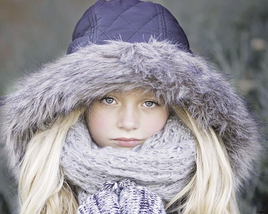 女の子, 美しい, 美しい少女, 顔, 肖像画, 髪, 目, モデル, 冬, 冷, 灰色の美しさ