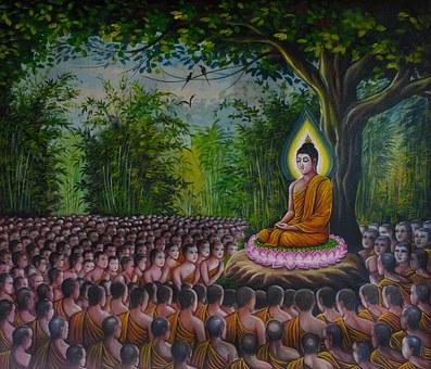 仏, 信者, 群衆, 瞑想, 仏教, アジア, 宗教, 像, 精神的です, 文化