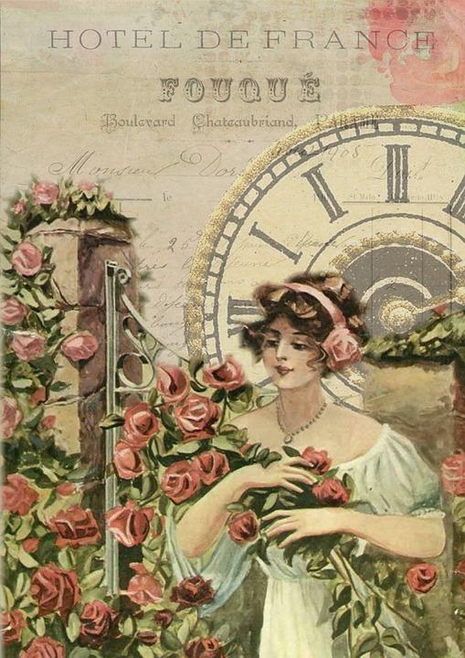 French vintage girl free image on pixabay - Vintage bilder kostenlos ...
