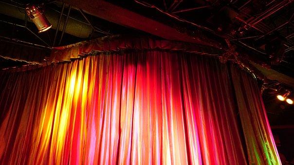 光, ステージ, 閉じる, パフォーマンス, エンターテイメント, 音楽