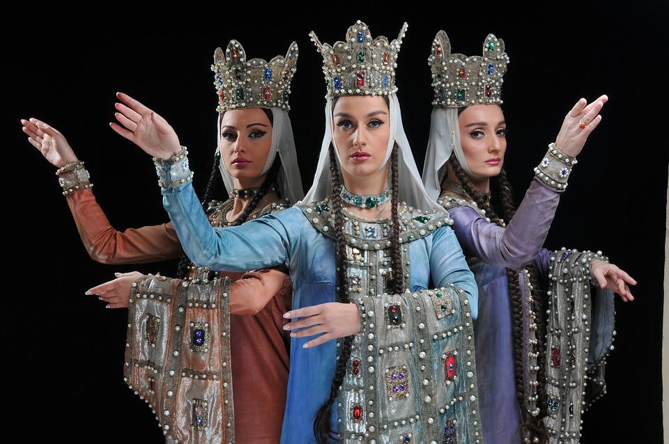 Twórczy, Teatr, Królowa, Gruzja, Piękna Dziewczyna