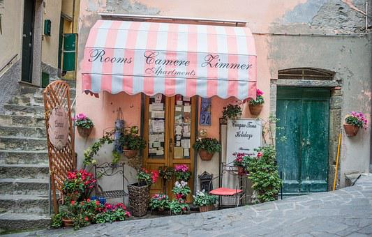 Italy Cinque Terre Store Front Awning Flow
