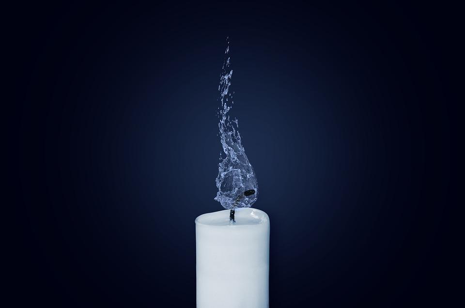 kostenloses foto kerze flamme wasser kerzenlicht. Black Bedroom Furniture Sets. Home Design Ideas