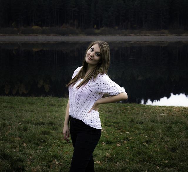 Free photo: Woman, Nature, Smile, Girl, Peace - Free Image ...