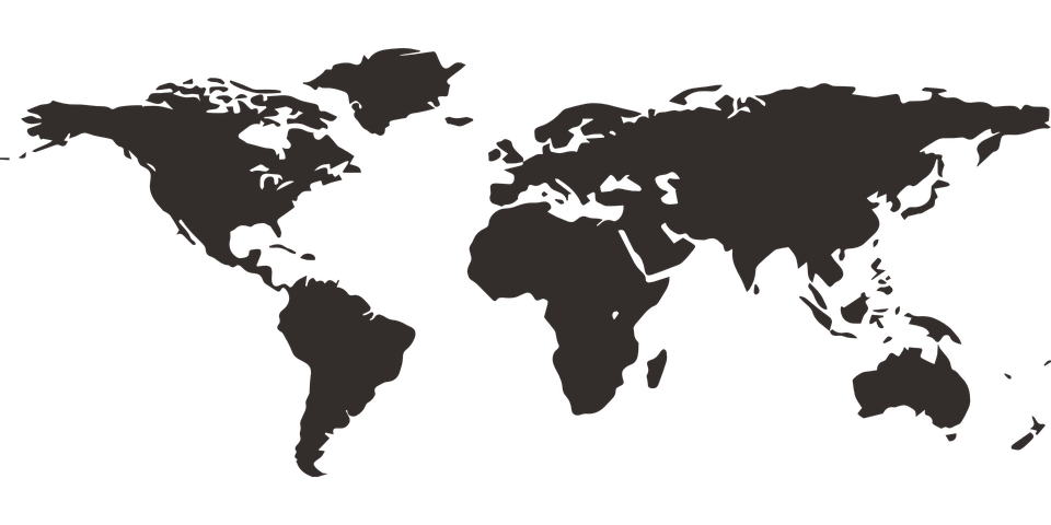Map Of The World, International, Global, Mainland