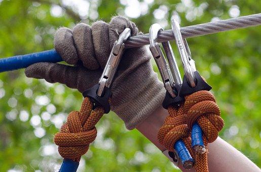 Climb, Adventure, Hand, Gloves, Rail