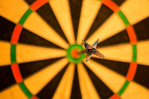 Bulls Eye, Bull, Darts, Game, Win