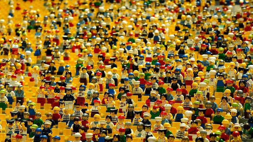 Lego, Figurines, Giocattoli, Folla, Molti, Ascolta