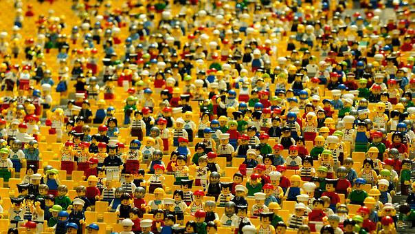 Lego, Figurines, Toys, Crowd, Many, Play