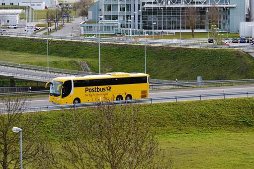 Bus Yellow Post Road Munich Airport Bus Bu