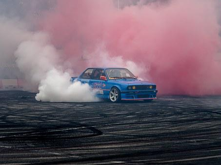 Bmw, Fast, Speed, Drift, Car, Tire, Burn