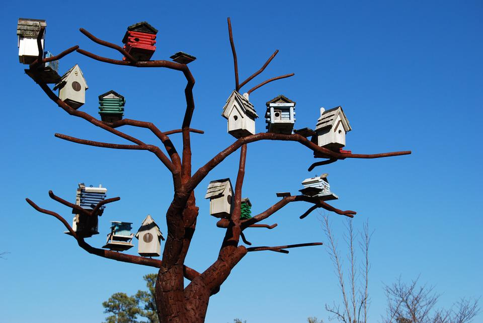 Bird Houses Steel Tree Sculpture 183 Free Photo On Pixabay