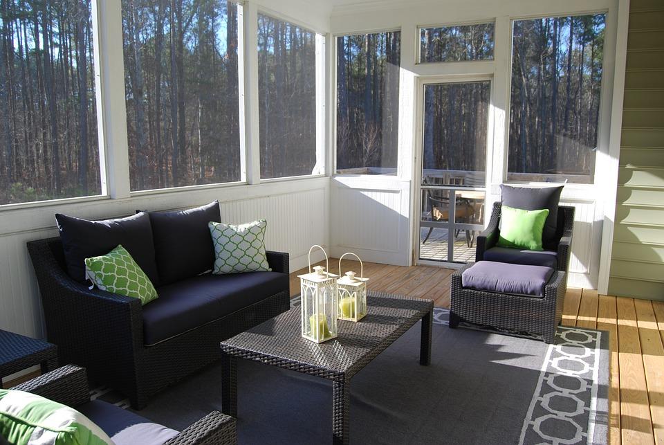 Porch sunroom indoors winter free photo on pixabay for Garden room 4 seasons