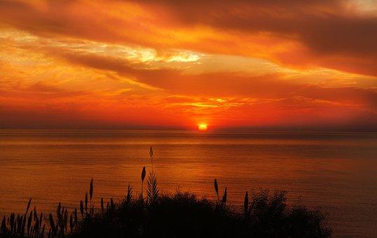 Χόρτα, Θάλασσα, Ηλιοβασίλεμα, Ανατολή