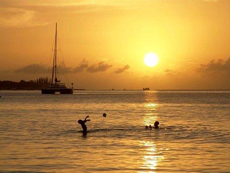 Jamaica, Sun, Ocean, Sea, Caribbean