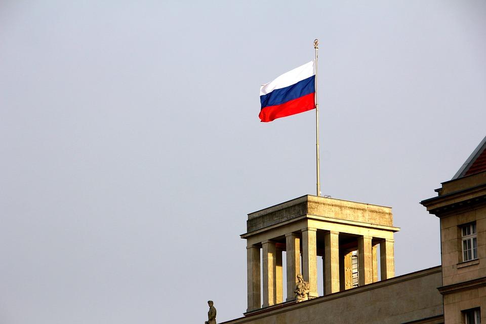 Russland, Botschaft, Berlin, Flagge, Bauwerk