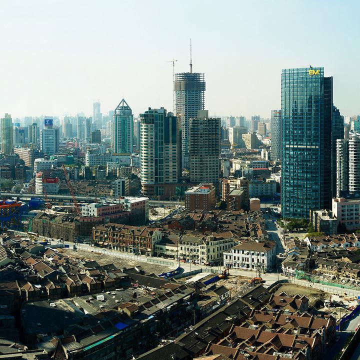 Panorama, Shanghai, Großstadt, China, Gebäude
