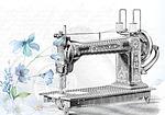 vintage, sewing, machine
