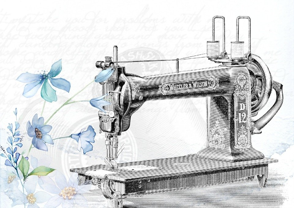 Free illustration vintage sewing machine sew free for Arts and crafts sewing machine