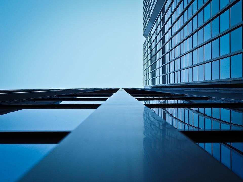 アーキテクチャ, モダン, 建物, ファサード, 超高層ビル, 幾何学的, ウィンドウ, デュッセルドルフ