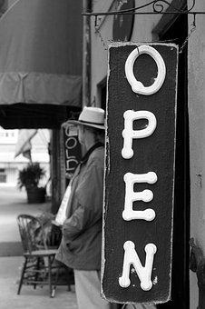 Offen, Shop, Innerhalb, Straße, Verkauf