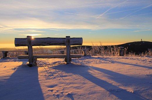 Snow Covered Rural Winter Landscape Medieval Stockillustration ...