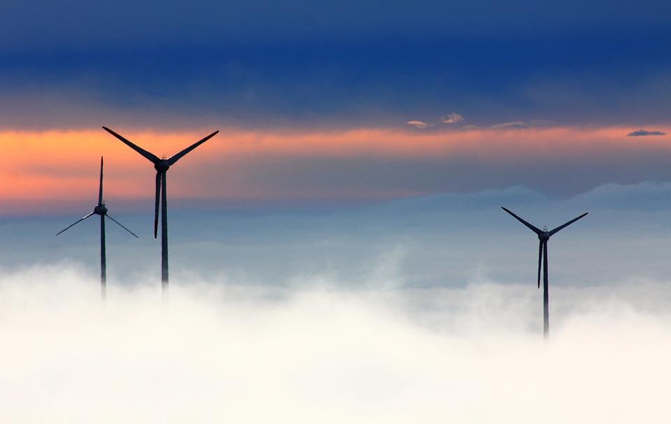 Windräder, Wind Power, Wind Park, Fog, Wind Energy