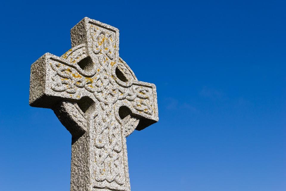 Cross, Celtic, Scotland, Sky, Blue, Religion
