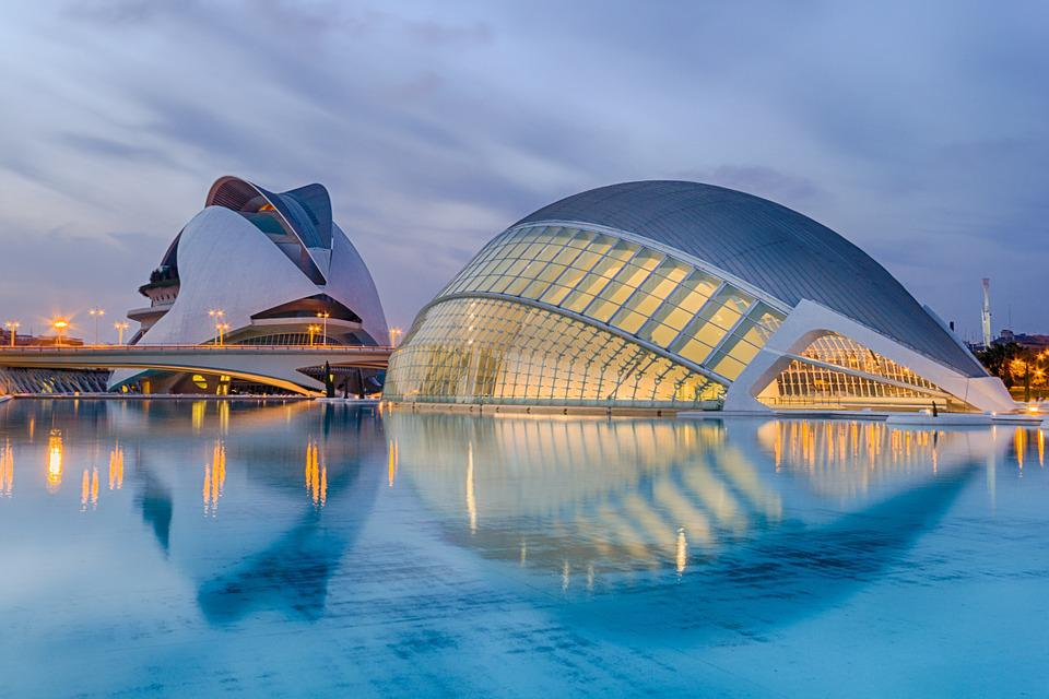 Valencia, Spain, Calatrava, Sunset, City Of Arts
