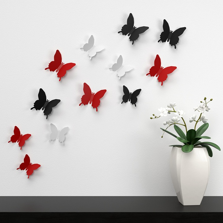 Butterfly Wall Decoration Color Paper Decoration