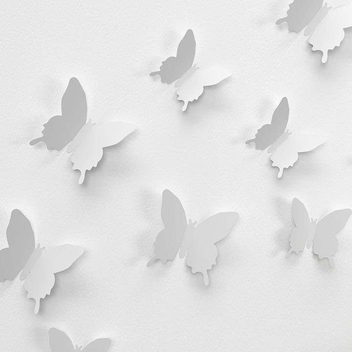 Schmetterling Wand Dekoration - Kostenloses Foto auf Pixabay