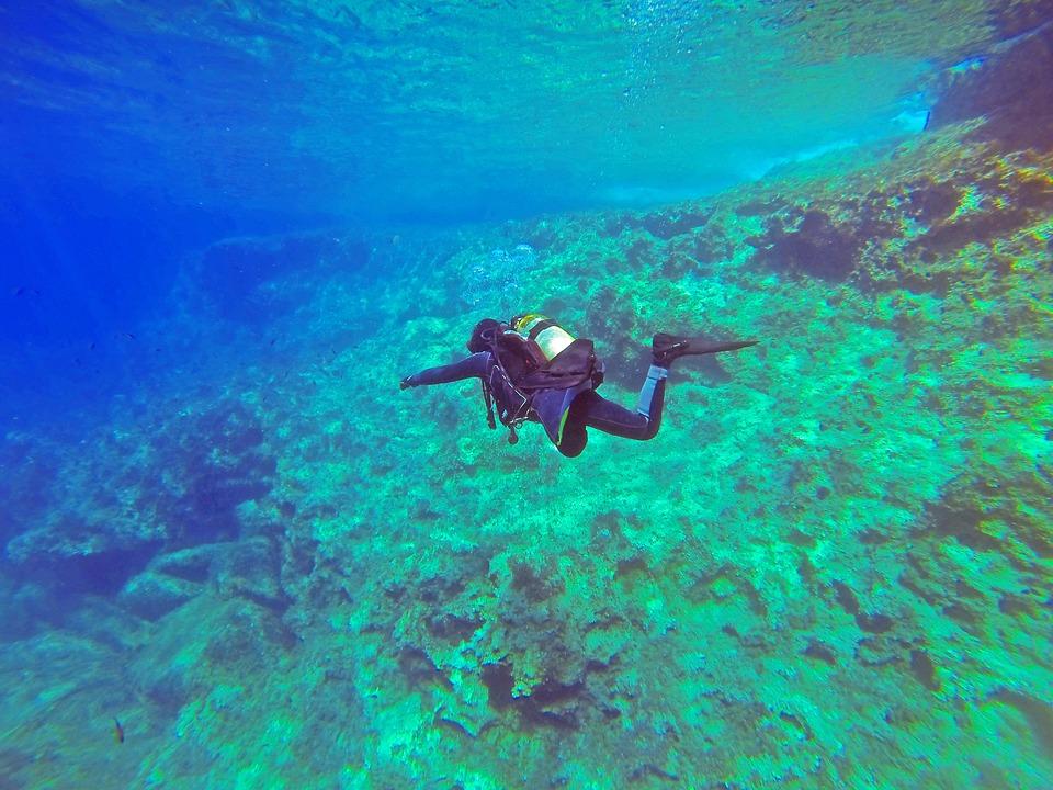 Scuba Diver, Gerätetauchen, Taucher, Padi, Wasser