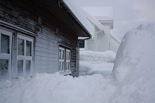 Snow, House, Winter, Blizzard, Snowbound
