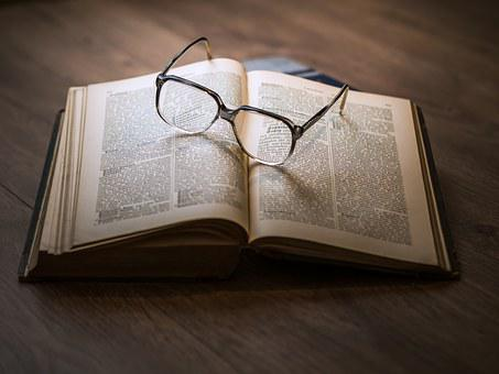 Knowledge, Book, Library, Glasses