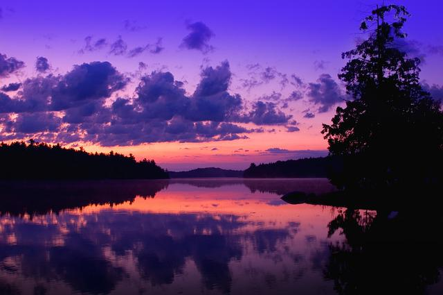Free Photo Purple Dusk Dawn Water Sunset Free Image