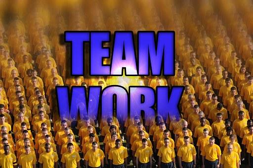 チームワーク, チーム, 仕事, ビジネス, 企業, スポーツ, 統一, 一緒に