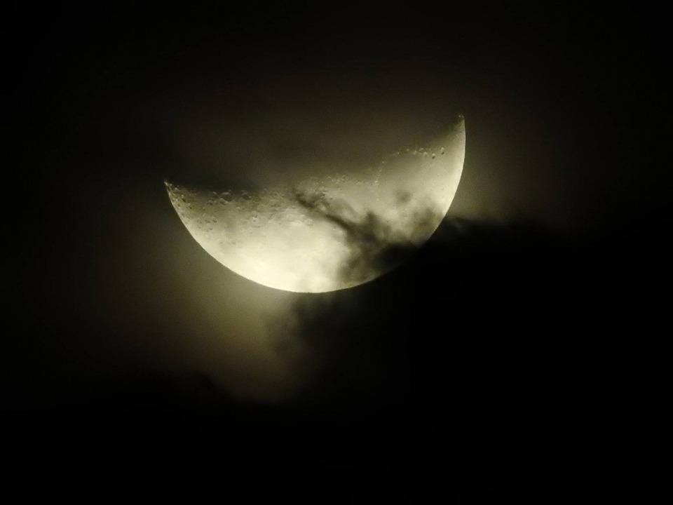 Favori Photo gratuite: Lune, Pleine Lune, Nuages, Ombres - Image gratuite  LM61