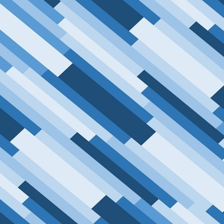 diagonal geometric design blue hues shades rods