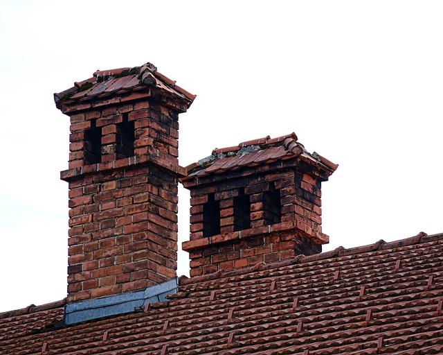 Free Photo Chimney Roof Brick Fireplace Free Image