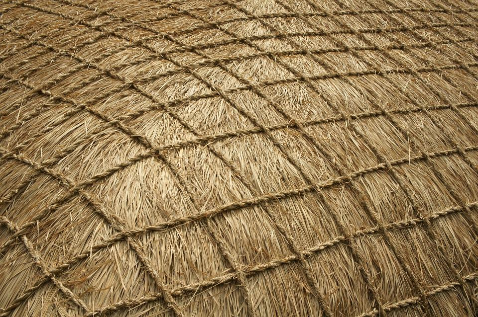 Hay Roof Texture Amp Wall Texture Consisting Of Thin Brown