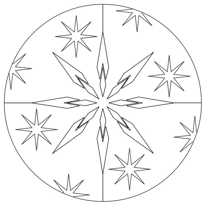 Christmas Mandala Star 183 Free Image On Pixabay